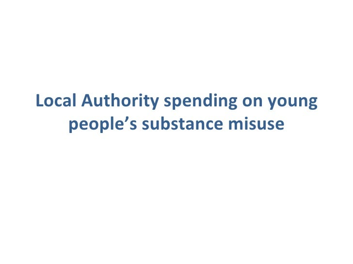 Local Authority spending on young people's substance misuse