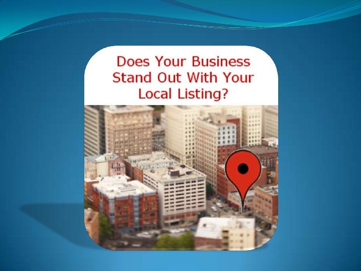 Local Marketing through Local Business Listings for local businesses to use Local Business Marketing to reach local consum...