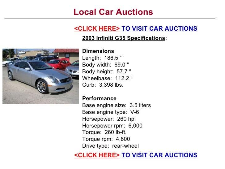 local car auctions. Black Bedroom Furniture Sets. Home Design Ideas
