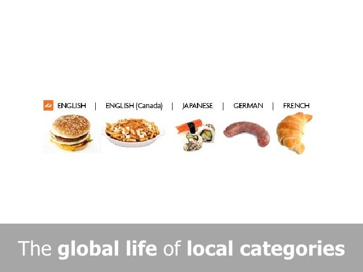 The global life of local categories