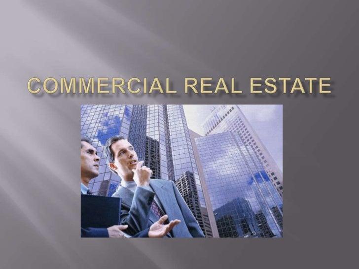 Commercial real estate<br />