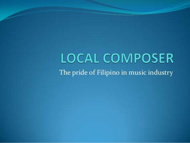 The pride of Filipino in music industry