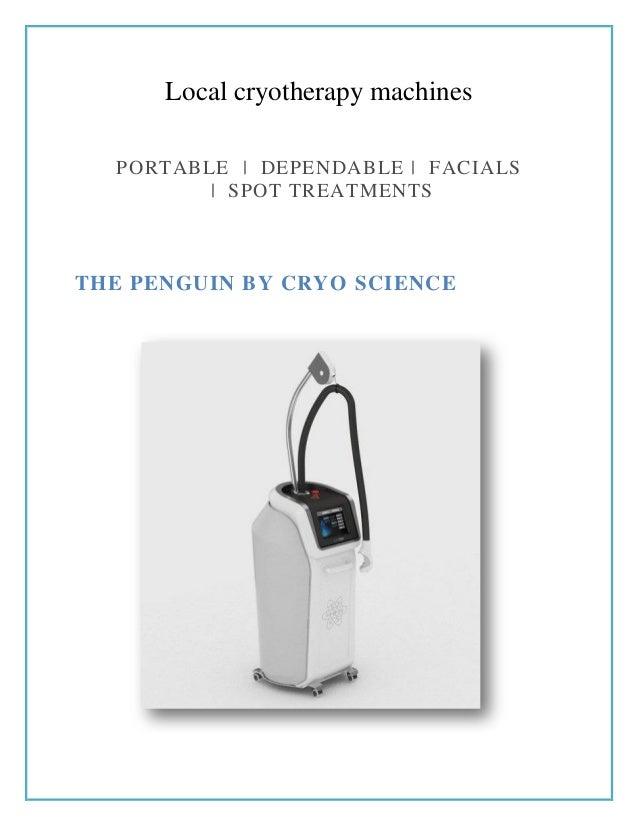 Local cryotherapy machines - Cryo Generation
