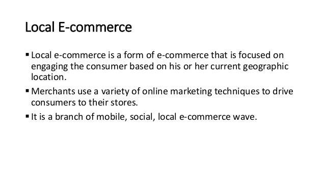 local e commerce Local e-Commerce