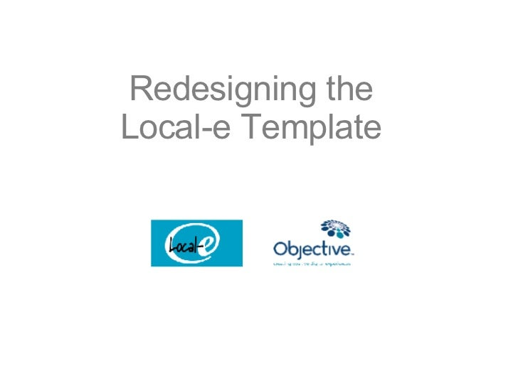 Redesigning the Local-e Template