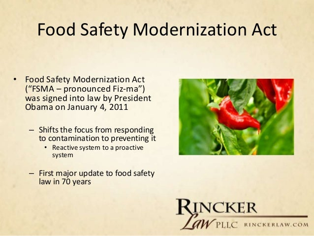 food movement local counseling ii part safety act fsma