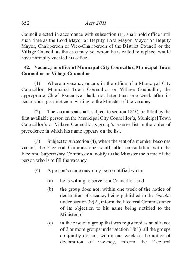THE LOCAL GOVERNMENT ACT 2011 - MAURITIUS