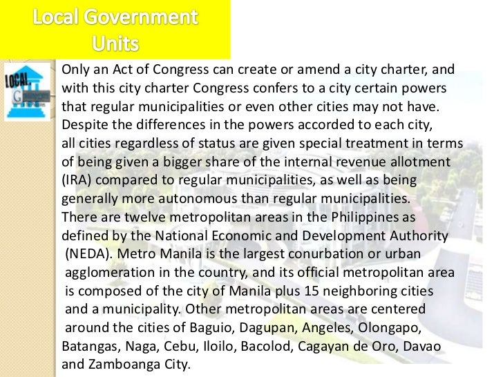 Independent Component Cities - Cities whose charters prohibittheir voters from voting for provincial elective officials.In...