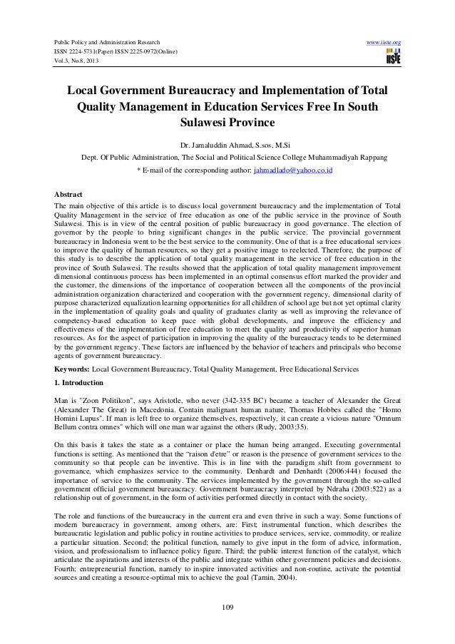Research paper on service quality in education