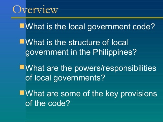 The philippine is a government of