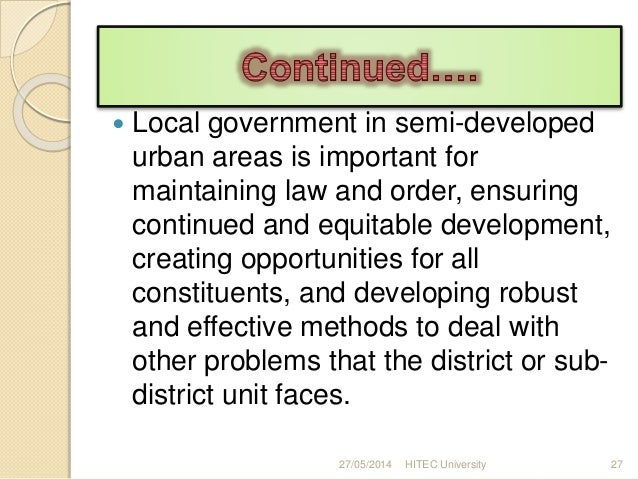 "the importance of municipal government essay Advantages and disadvaantages of municipal bonds essay what is local government - ""municipal government"" is form of assumes importance because of."
