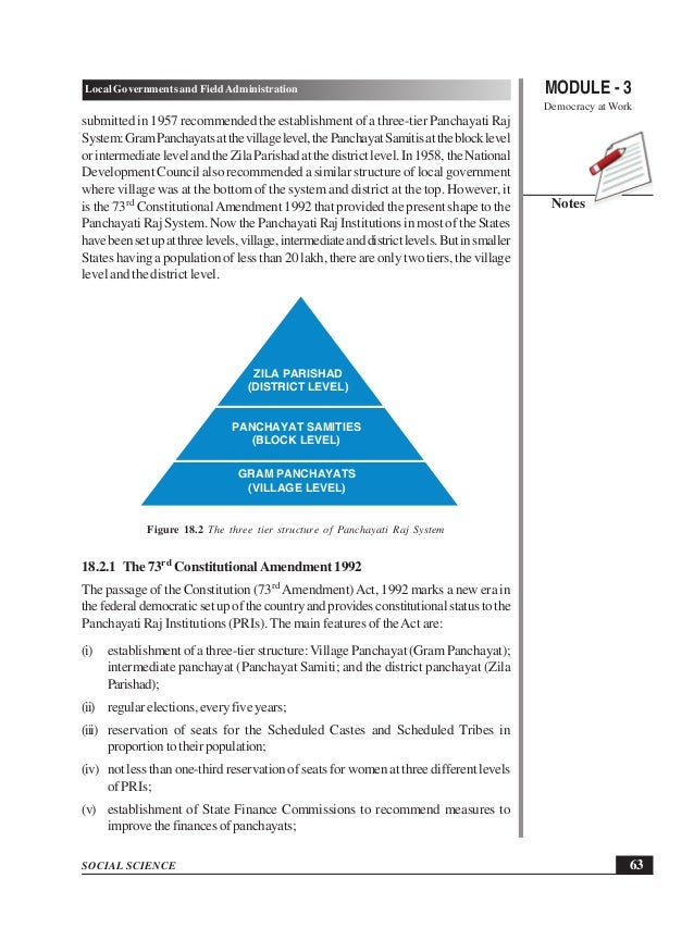 local governments in india Constitution of india - history of local governments in india, structure and functioning of panchayats, panchayati raj institutions help us caption.