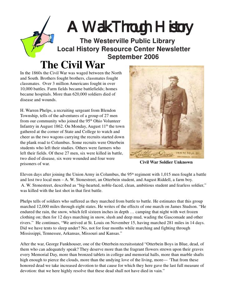 A Walk Through History                            The Westerville Public Library                     Local History Resourc...