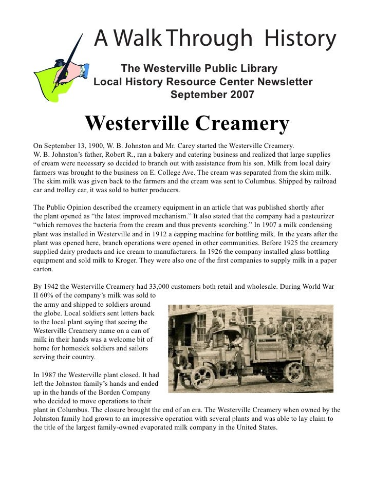 A Walk Through History                         The Westerville Public Library                    Local History Resource Ce...