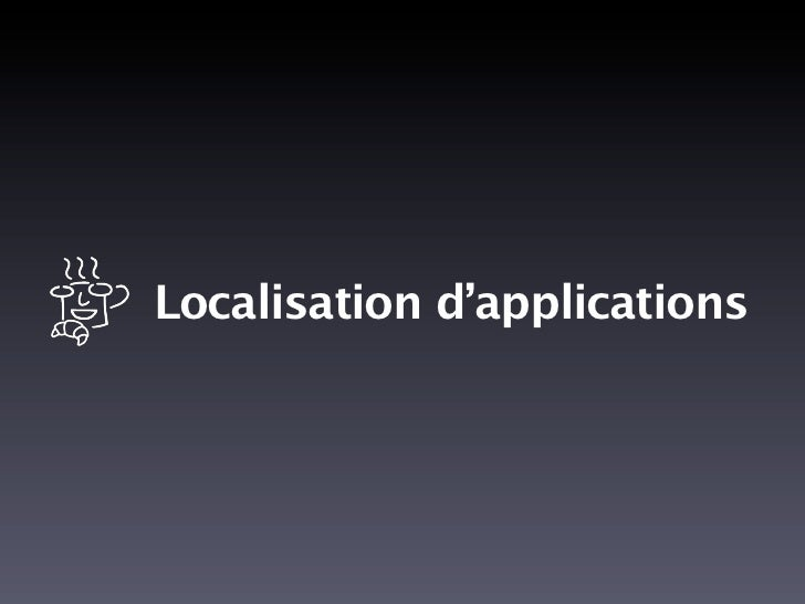 Localisation d'applications