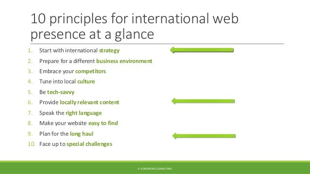 10 principles for successful international web presence