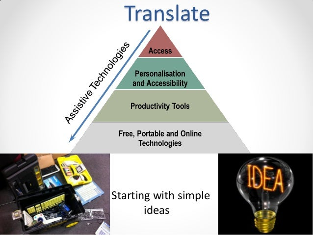 Translate  Starting with simple ideas
