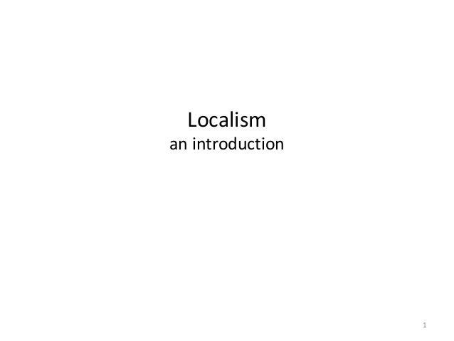 Localism  an introduction  1
