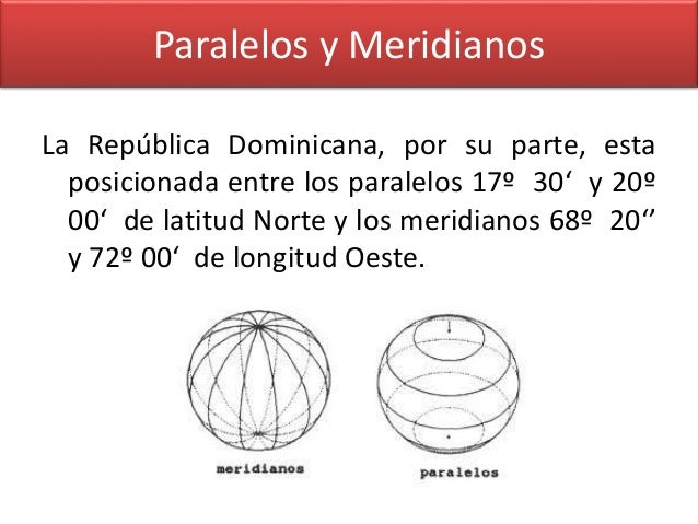 Resultado de imagen para DOMINICANA MAPA LATITUD MERIDIANO