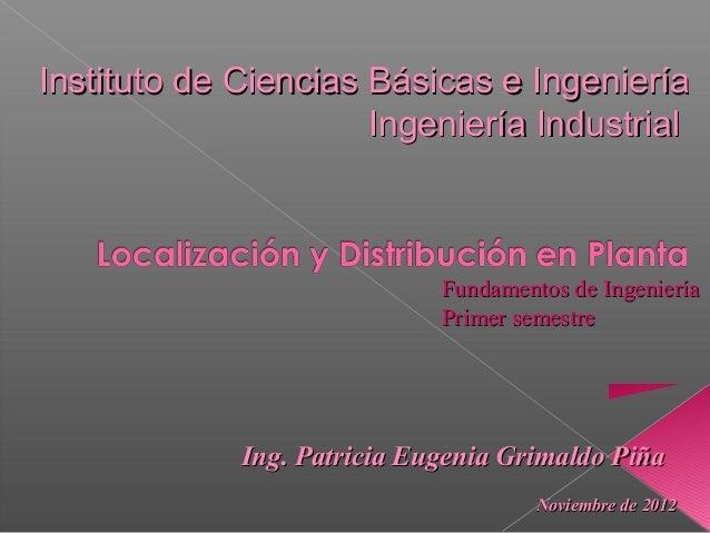 Instituto de Ciencias Básicas e Ingeniería                      Ingeniería Industrial                             Fundamen...