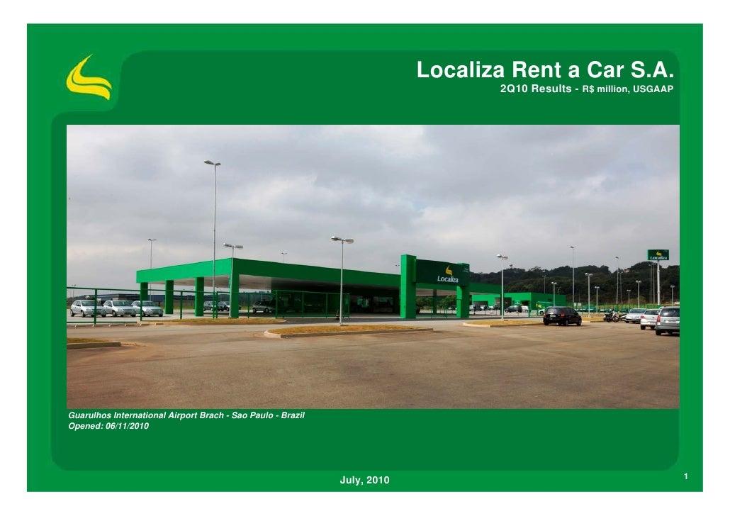 Localiza Rent a Car S.A.                                                                                  2Q10 Results - R...