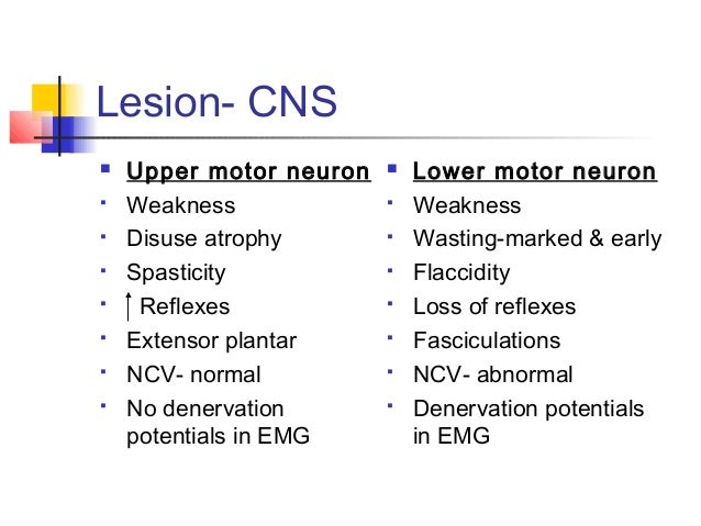 Upper and lower motor neuron signs for What is motor neurone disease symptoms