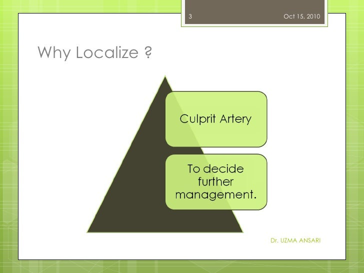 Why Localize ? Dr. UZMA ANSARI Oct 15, 2010