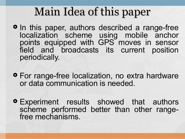 Localization with mobile anchor points in wireless sensor networks Slide 2