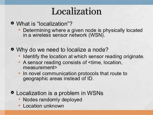 Localization with mobile anchor points in wireless sensor networks Slide 3