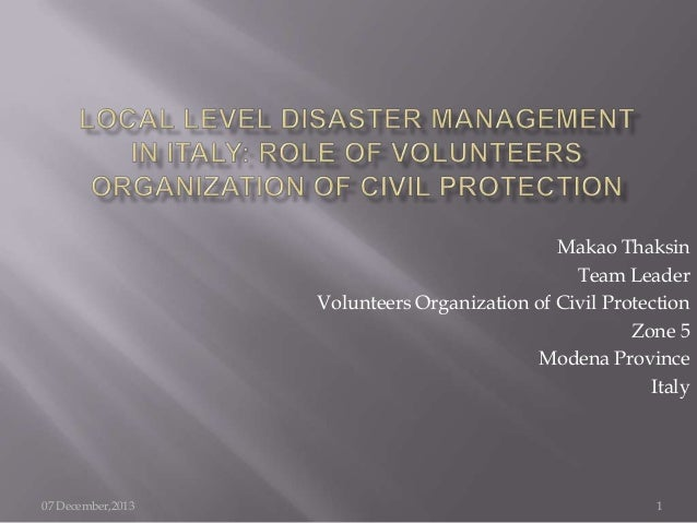 role of volunteers in disaster management Communication links with disaster management role-players  disaster management volunteers  act no 572002 disaster management act.
