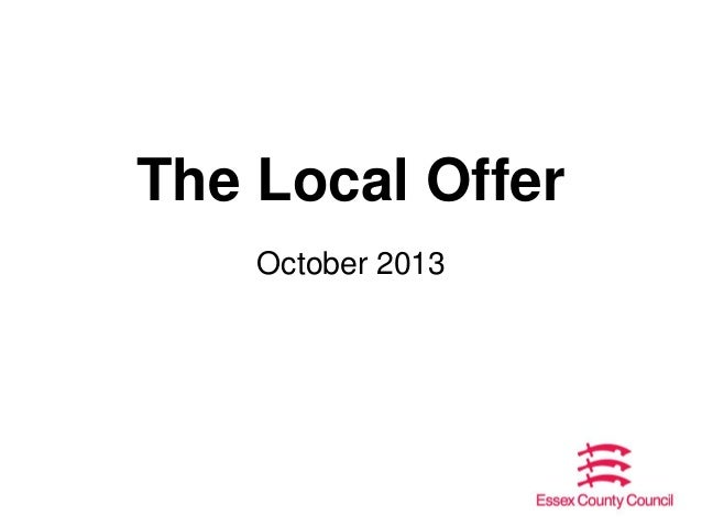 The Local Offer October 2013