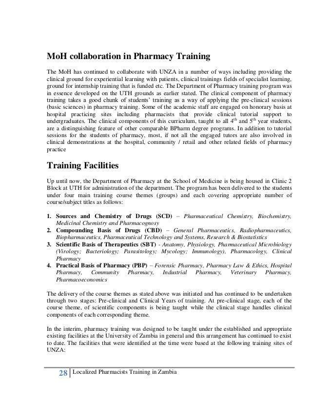 Local pharmacists training developmental history