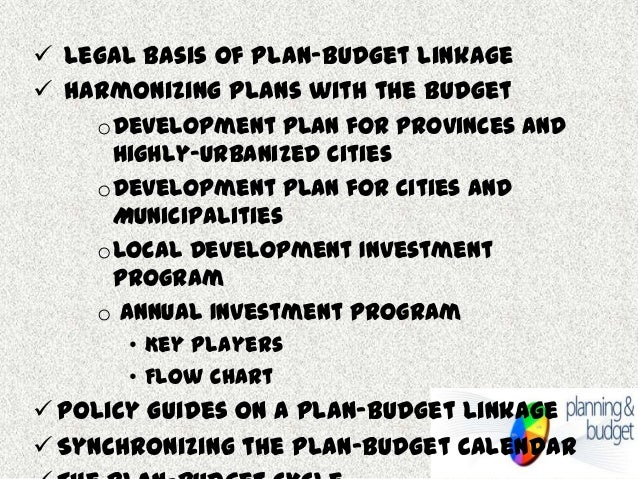 local planning and budgeting linkage version 2 0