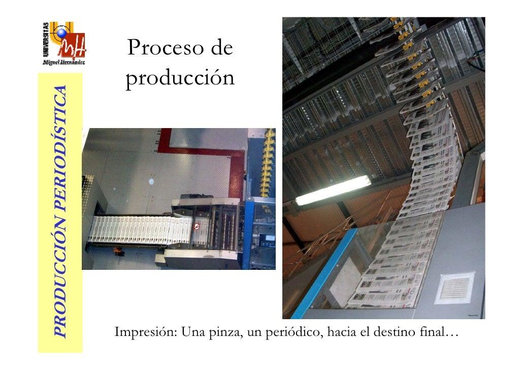 Proceso de                            producción PRODUCCIÓN PERIODÍSTICA                               Impresión: Una pinz...