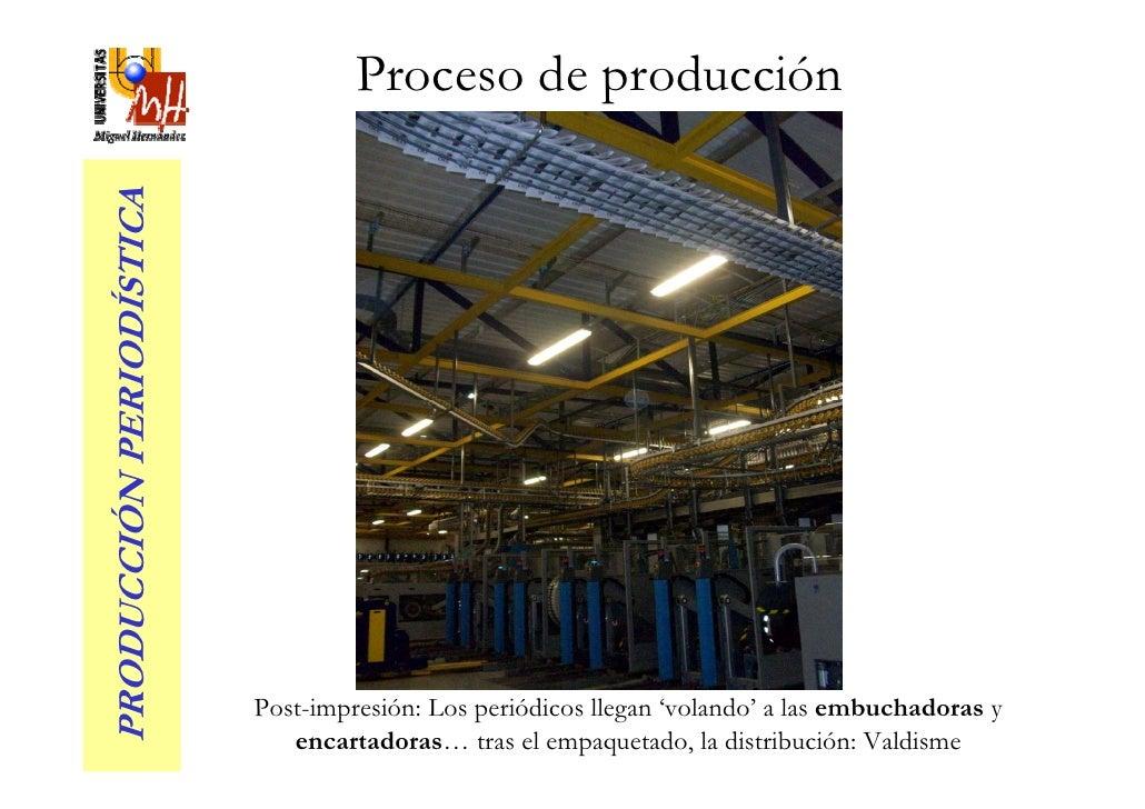 Proceso de producción PRODUCCIÓN PERIODÍSTICA                               Post-impresión: Los periódicos llegan 'volando...