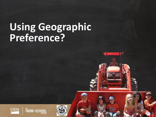 WI Department Of Agriculture Using Geographic Preference?  Geographic Preference