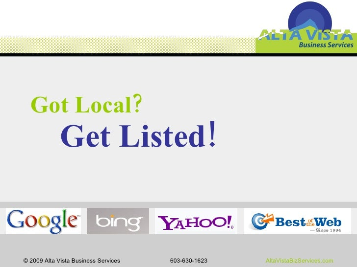 Got Local?    Get Listed!