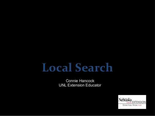 Local Search     Connie Hancock  UNL Extension Educator