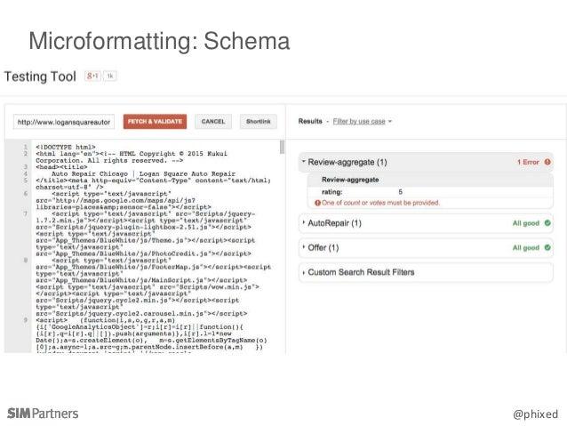 @phixed Microformatting: Schema