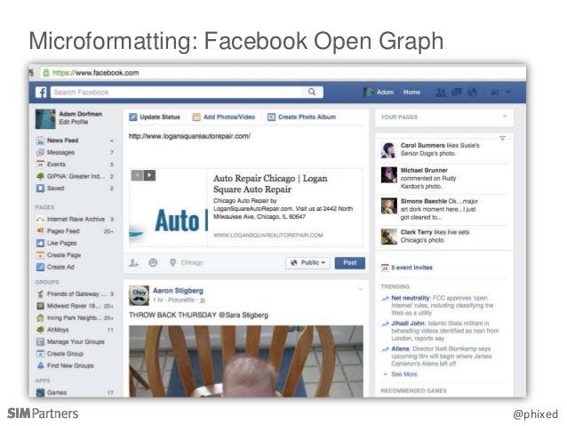 @phixed Microformatting: Facebook Open Graph