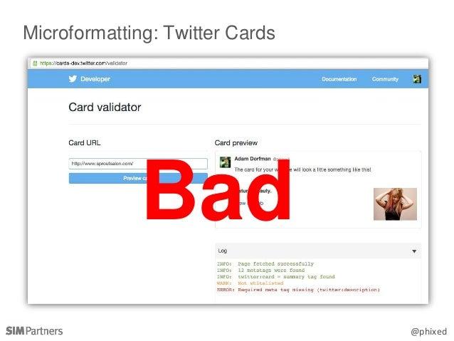 @phixed Microformatting: Twitter Cards Bad