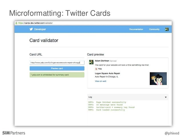 @phixed Microformatting: Twitter Cards