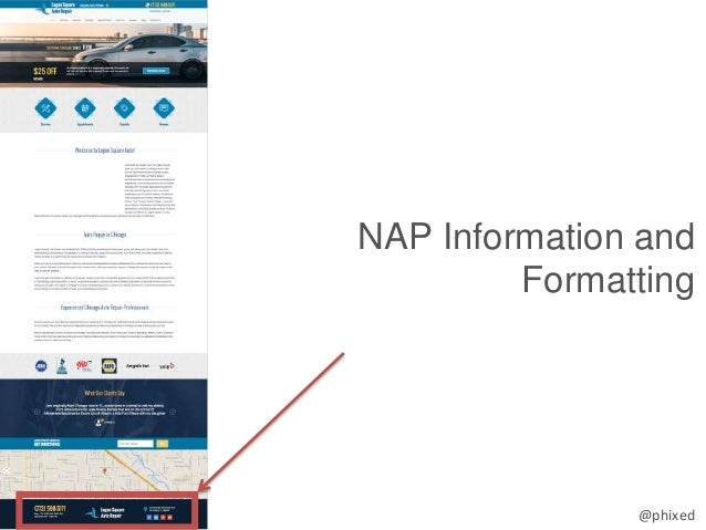 @phixed NAP Information and Formatting
