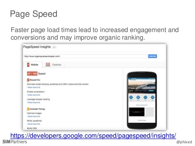 @phixed Faster page load times lead to increased engagement and conversions and may improve organic ranking. Page Speed ht...