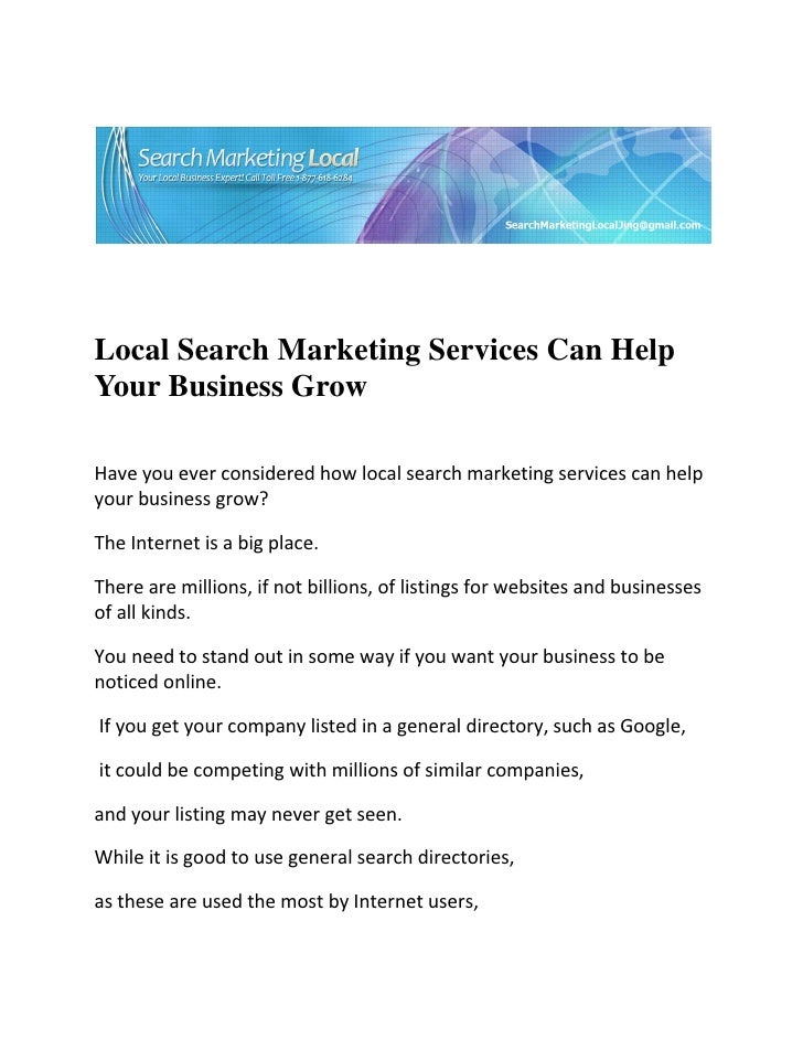 Local Search Marketing Services Can He...