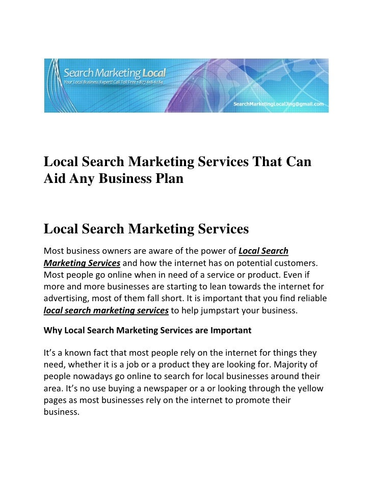 Local Search Marketing Services That CanAi...
