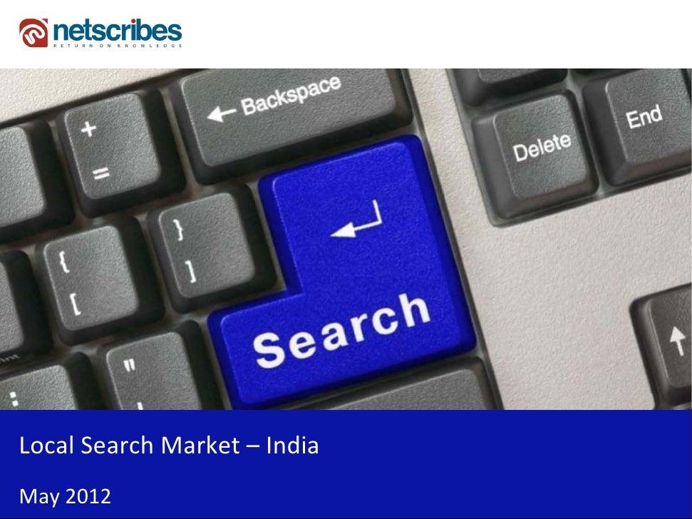 LocalSearchMarket– IndiaMay2012