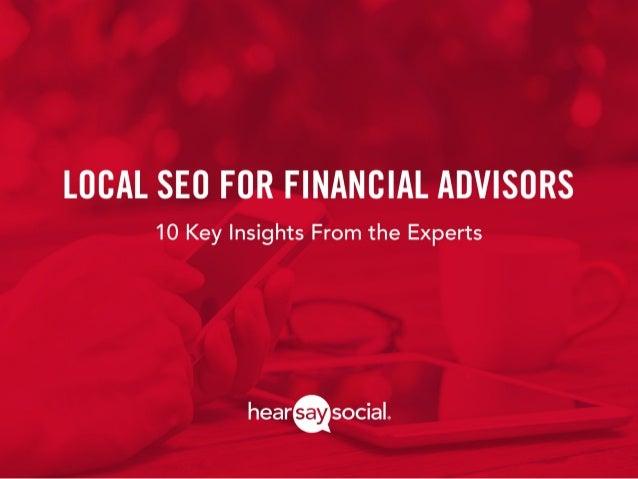 Local SEO for Financial Advisors