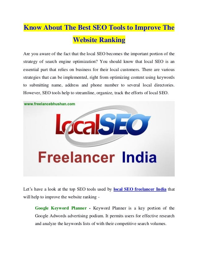 Know About The Best Seo Tools To Improve The Website Ranking