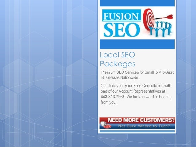 Local SEOPackagesPremium SEO Services for Small to Mid-SizedBusinesses Nationwide.Call Today for your Free Consultation wi...